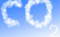 co2 in blue sky